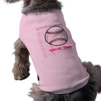Softball lindo camiseta de perro