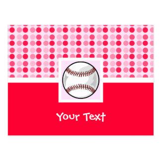 Softball lindo tarjeta postal