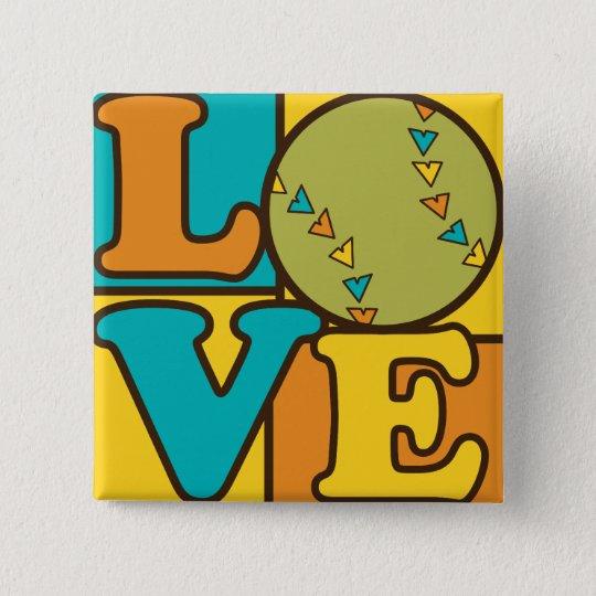 Softball Love Button