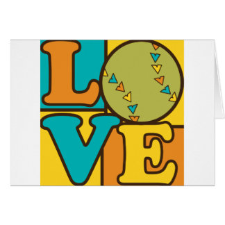 Softball Love Card