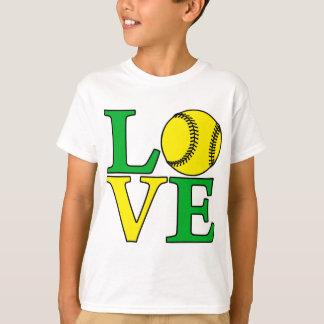 Softball LOVE, green T-Shirt