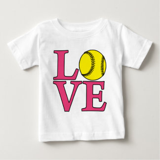 Softball LOVE, lt. melon Baby T-Shirt
