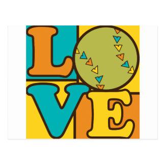 Softball Love Postcard