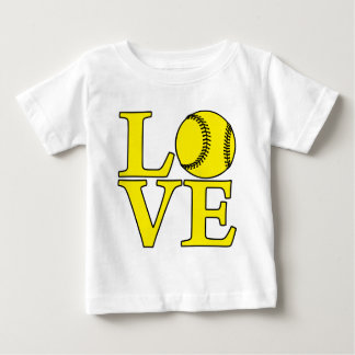 Softball LOVE, yellow Baby T-Shirt