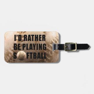 Softball Travel Bag Tag