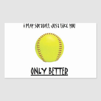 softball mejor que usted pegatina