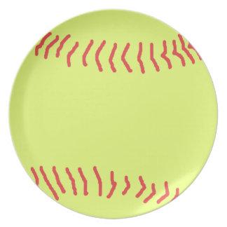 Softball Melamine Plate