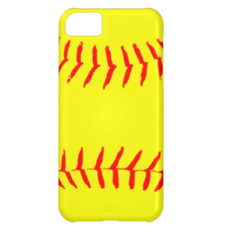 Softball modificado para requisitos particulares funda para iPhone 5C