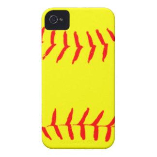 Softball modificado para requisitos particulares iPhone 4 fundas