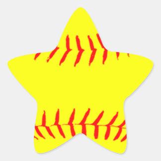 Softball modificado para requisitos particulares pegatinas forma de estrella personalizadas