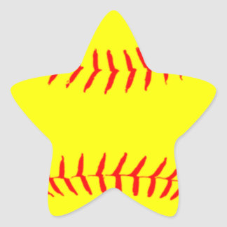 Softball modificado para requisitos particulares pegatina en forma de estrella