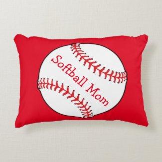 Softball Mom Accent Pillow