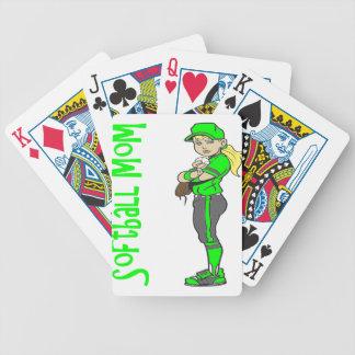 SOFTBALL MOM BICYCLE PLAYING CARDS