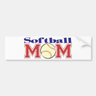 Softball Mom Car Bumper Sticker
