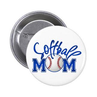 Softball Mom Button