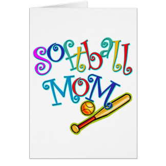 Softball Mom Card