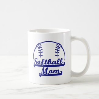 SOFTBALL MOM COFFEE MUG