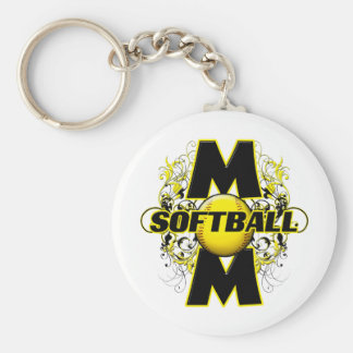 Softball Mom (cross) copy.png Keychain