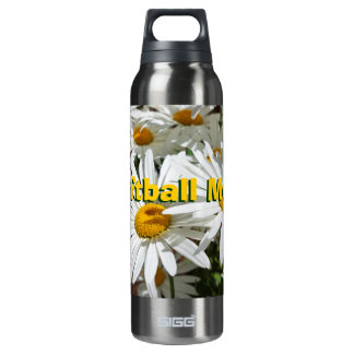 Softball Mom Daisy Flowers 16 Oz Insulated SIGG Thermos Water Bottle