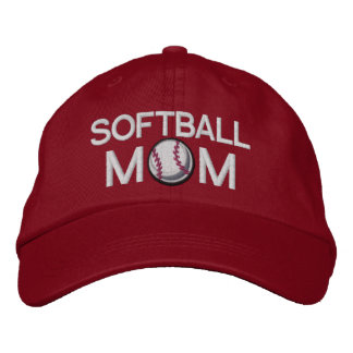 Softball Mom Embroidered Baseball Cap