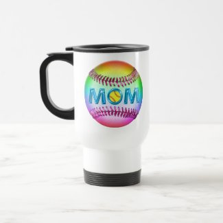 Softball MOM Gifts Pretty and Cool Softball Mugs
