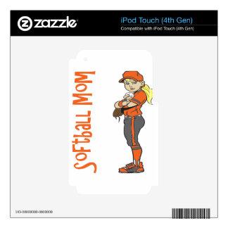 SOFTBALL MOM iPod TOUCH 4G SKIN