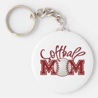 Softball MOM Keychain