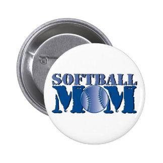 Softball Mom Pinback Button