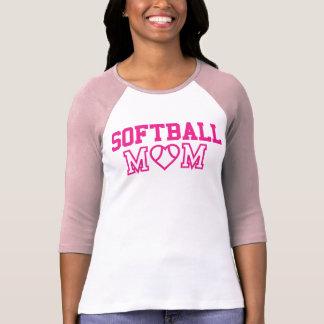 Softball Mom Pink Baseball Tee