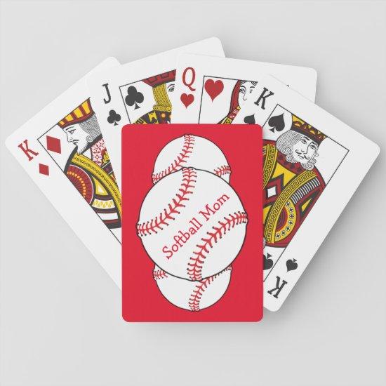 Softball Mom Playing Cards