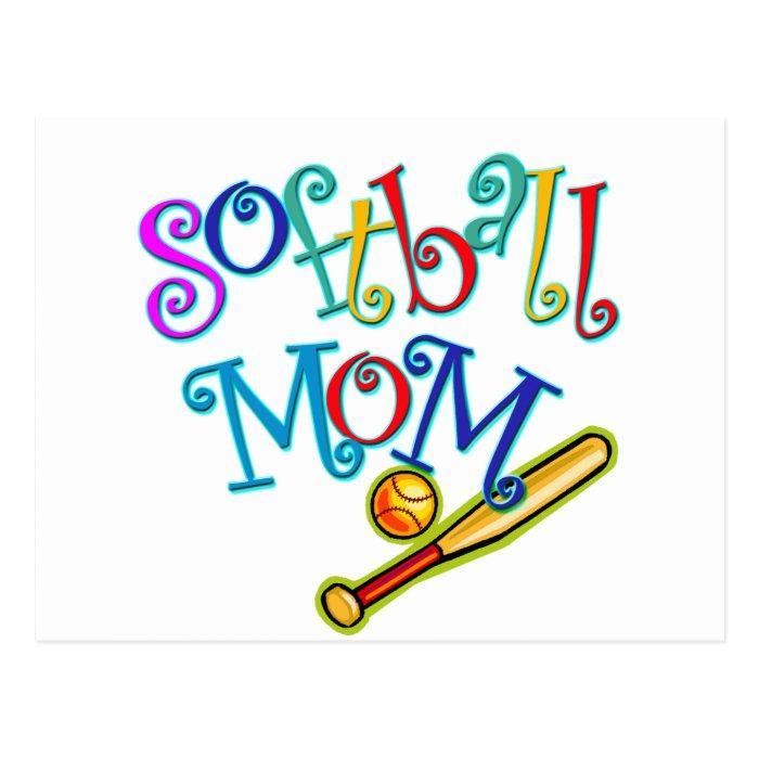 Softball Mom Postcard