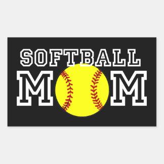 Softball Mom Rectangular Sticker