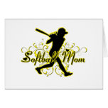 Softball Mom (silhouette) copy.png Greeting Cards