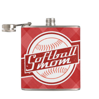 Softball Mom Stainless Steel Hip Flask