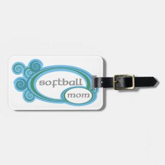 Softball Mom Swirl Bag Tag