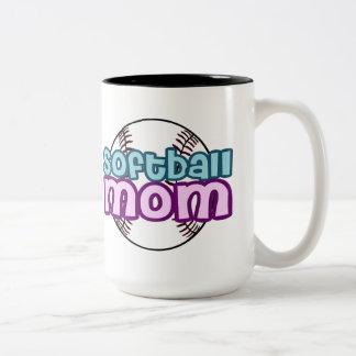 Softball Mom Two-Tone Coffee Mug