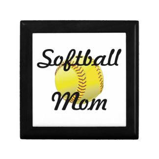 Softball mom with ball gift box