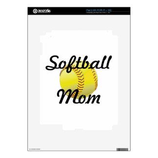 Softball mom with ball skin for iPad 2