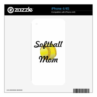 Softball mom with ball skins for the iPhone 4