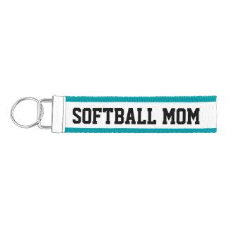 Softball Mom Wrist Keychain