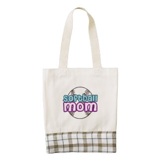 Softball Mom Zazzle HEART Tote Bag