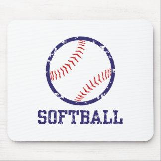 Softball Mouse Pad