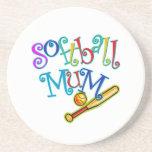 Softball Mum Beverage Coaster