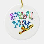 Softball Mum Ornament