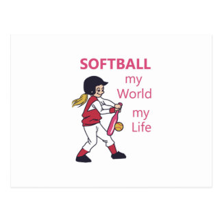 Softball My World Postcard