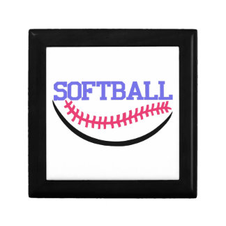 Softball Name Drop Jewelry Box