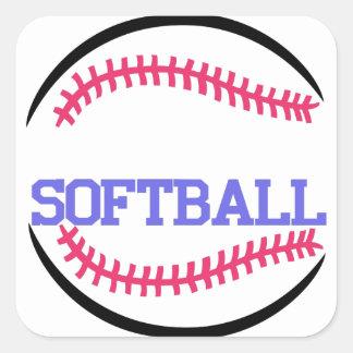 Softball Name Drop Square Sticker