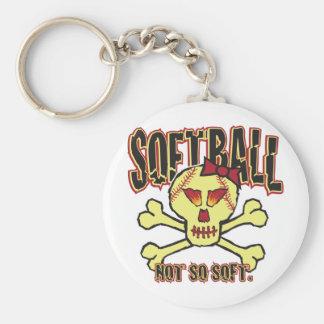 Softball, Not So Soft Keychain