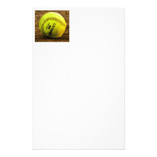 Softball on Ground Stationery