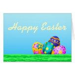 Softball or Baseball Easter Eggs in Grass Card